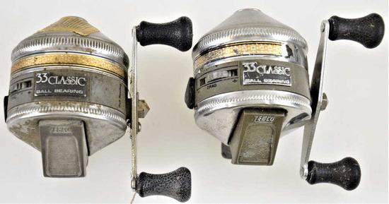 (2) Zebco 33 Classic  Ball Bearing Reel