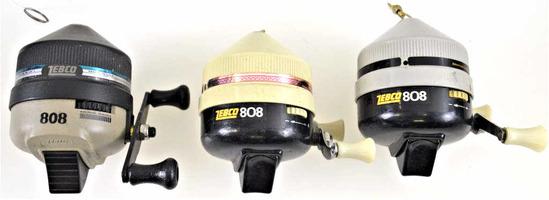 (3) Zebco 808 Reels