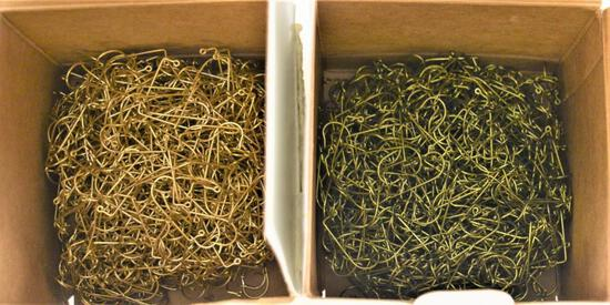 (2) 1000 ct boxes (2000) total - Eagle Claw Jig Hooks - Size 2 - Qty 1000 per box