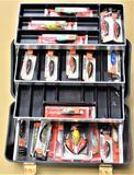 Umco 500UM Tackle Box with (22) New Lures