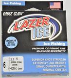 (12) Eagle Claw Lazer Ice 6 lb. 400 yds