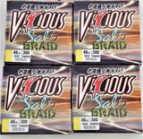 (4) Vicious Salt Braid 40 lb. 300 yd