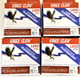 (4) Eagle Claw 12 lb. 1000 yds