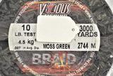 Vicious Braided 10 lb. test 3000 yd Spool