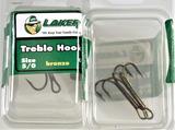 (23) Laker Treble Hooks Size 5/0 Bronze - 2 per pack