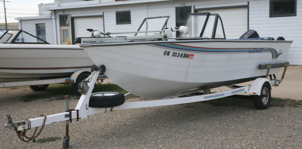 1995 Lowe 19' Deep V Aluminum boat