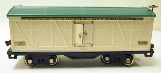 Lionel No. 514 Refrigerator Freight - Prewar