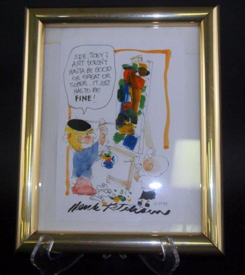 Hank Ketcham Watercolor/Pastel