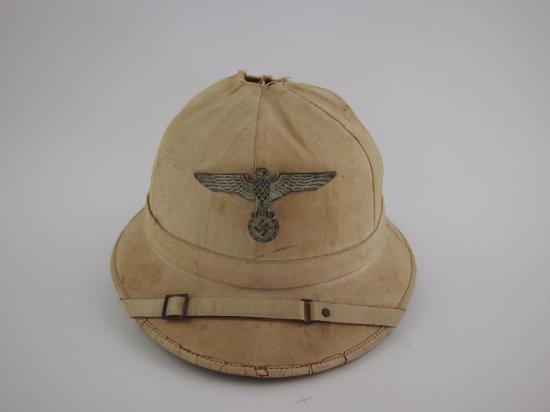 Rare Kriegsmarine White Line Officer's Sun Helmet