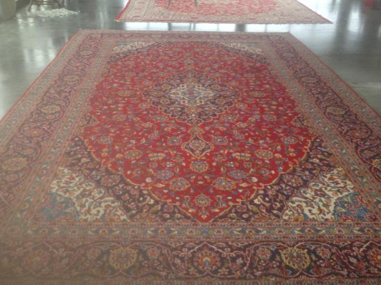 Kashan Red/Navy  Rug