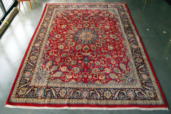Sarouk Red/Navy Rug