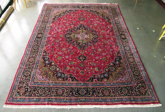 Mashad Red/Navy Rug