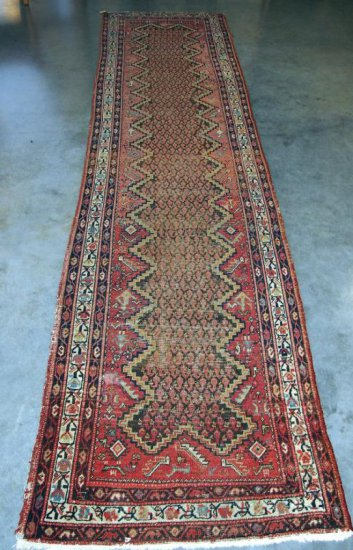 Persian Antique Malayer Red/Navy Rug