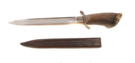 Imperial German Hunting Stag Handle Cutlass