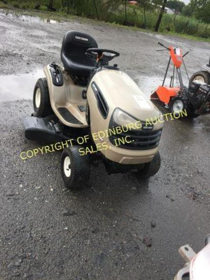 "CRAFTSMAN LIMITED EDITION 42""CUT RIDING MOWER RUNS, (BROWN). ***KEY IS IN O"