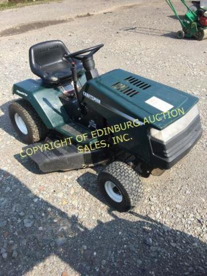 CRAFTSMAN RIDING MOWER (GREEN) (RUNS) ***KEY IS IN OFFICE