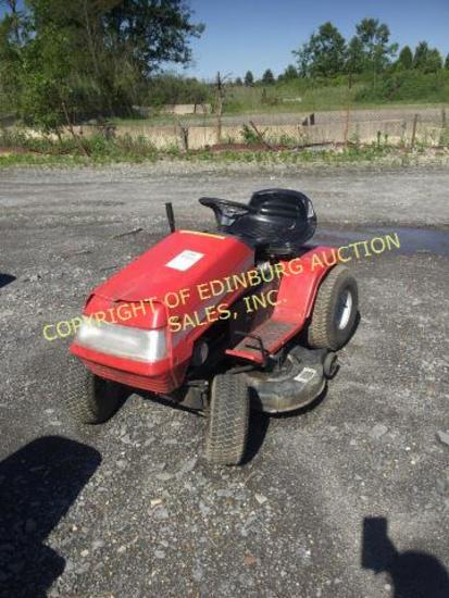 MONTGOMERY WARD 12.5/42 RIDING MOWER RUNS/ MOVES. ***KEY IS IN OFFICE