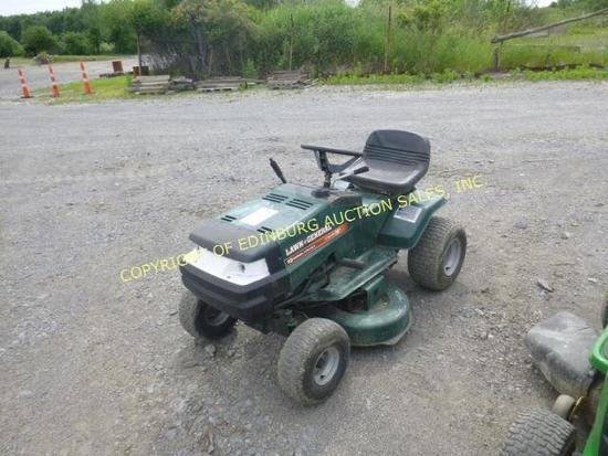 "LAWN GENERAL 13HP 38"" GREEN RIDING MOWER (RUNS) ***KEY IS IN OFFICE"