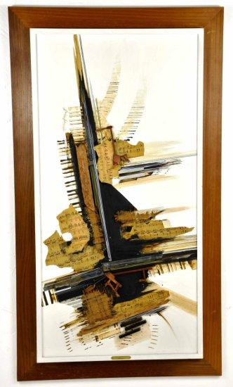 "Listed Artist, Allen Brook, ""Piano Concerto #10"" Mixed Media Art"