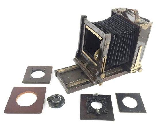 Vintage AGFA ANSCO Folding Wood Rail Large Format Camera