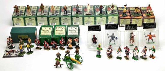 Lot of 34 Boxed Vintage Toy Lead Soldier Figures, Frontline, ERTL, Britain,
