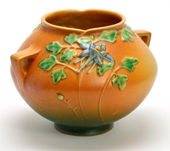 Vintage Roseville Pottery Columbine Vase, 400-6