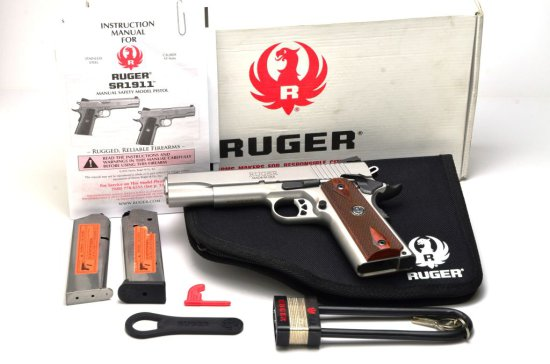 New in Box Sturm Ruger .45 Auto Model SR1911-06700 Serial #670-90909 With Case and 2 Mags