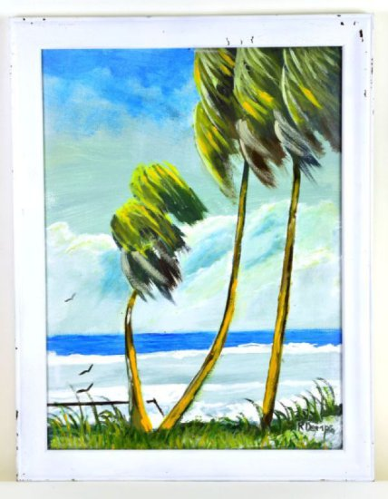 Rodney Demps, Highwaymen Painting, Oil on Upson Board