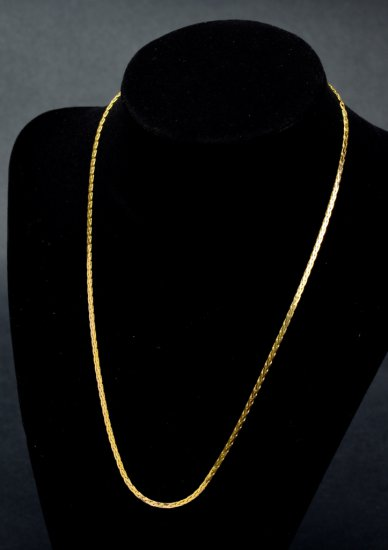 ITEM 91: 14kt. YELLOW GOLD COBRA NECKLACE CHAIN