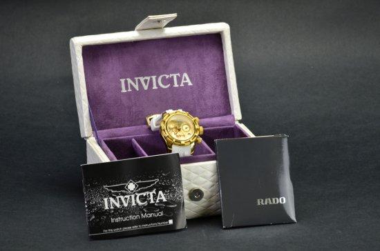ITEM 5J: INVICTA Reserve, GOLD PLATED CHRONOGRAPH