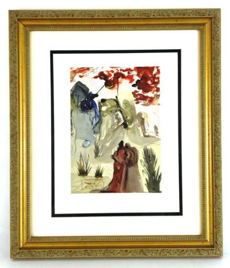 "Salvador Dali, 1963 Divine Comedy Purgatory ""The Divine Forest"" Wood Block Print"