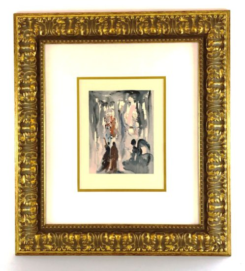 "Salvador Dali, 1963 Divine Comedy Paradise ""Original Perfection"" Wood Block Print"