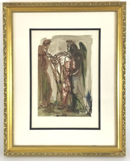 "Salvador Dali, 1963 Divine Comedy Purgatory ""The Proud One"" Wood Block Print"