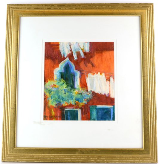 Listed Artist, Tara Funk Grim, Signed Mixed Media, Painting Untitled 1960