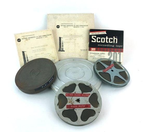 Collection of Vintage Reel to Reel Film & Audio Nixon, Babe Ruth, Hindenburg, NASA