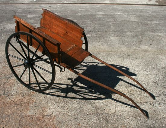 Vintage Horse Drawn Wood Cart from St. Augustine