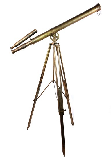 Vintage Brass Telescope Looking Glass on Stand
