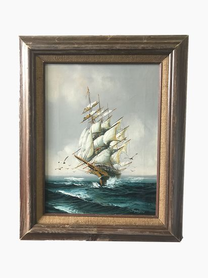 Original Oil on Canvas Painting by Listed Artist Hewitt R Jackson