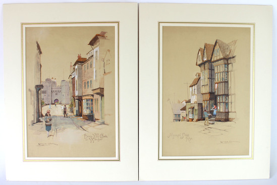 Lot of Two Original Watercolors by Artist Ernest Uden