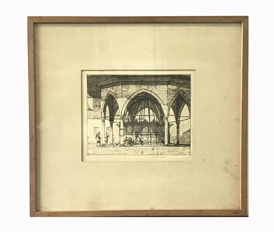 Etching by Listed Artist Louis C. Rosenberg (1890-1983)