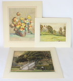 Original Watercolors by Listed Artists H.M. Brock, J W Whymper and Beryl Matchwick