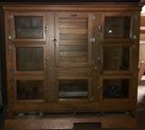 Antique McCray Commercial Grocers 8 Door Ice Box Refrigerator
