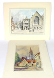 Lot of Original Watercolors Signed by Artist Stanley Orchart