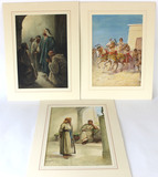 Original Watercolor Paintings by listed artists Evelyn Stuart Hardy and M.D. Hardy