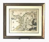 Early Map Engraving Lithograph from Panama Region
