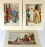Original Watercolor Paintings by A. Dudley (Giovianni Barbaro) and Francisco J Torrome
