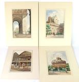 Four Original Watercolors by artist F. Murgatroyd