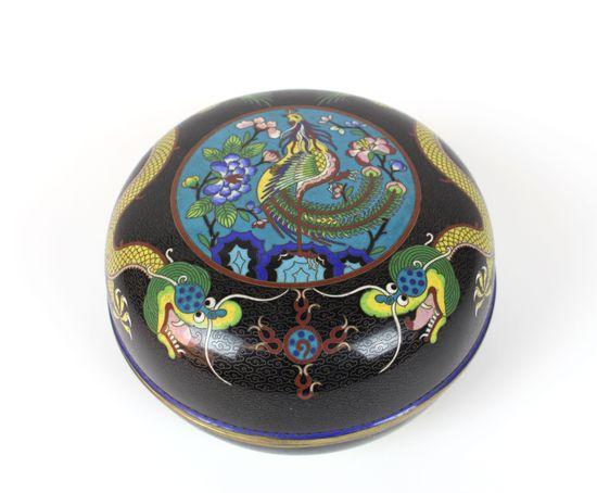 Cloissone Lidded Bowl