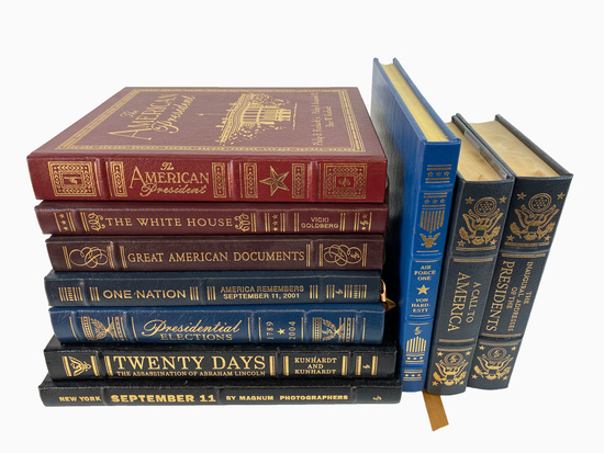 Easton Press Americas History 10 Leather Bound Collectors Edition Books