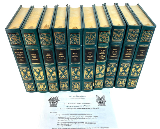 """Easton Press 10 Volume """"Myths of the Ancient World"""" Books"""